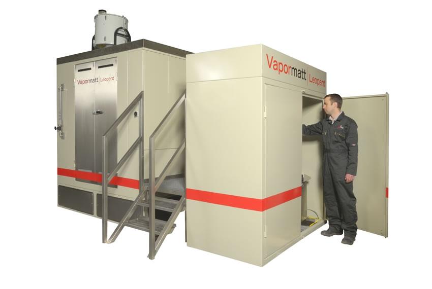 Vapormatt Leopard wet blasting system