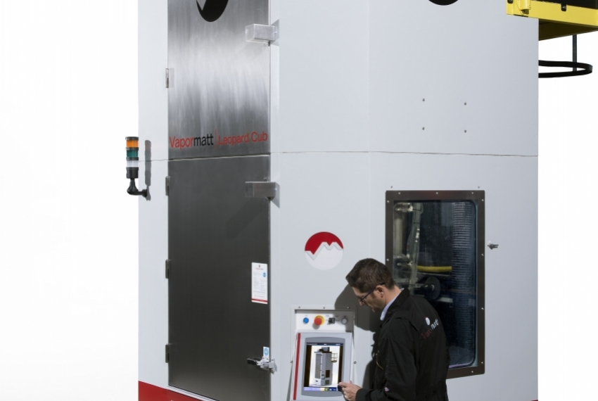 Wet blasting machines for aerospace