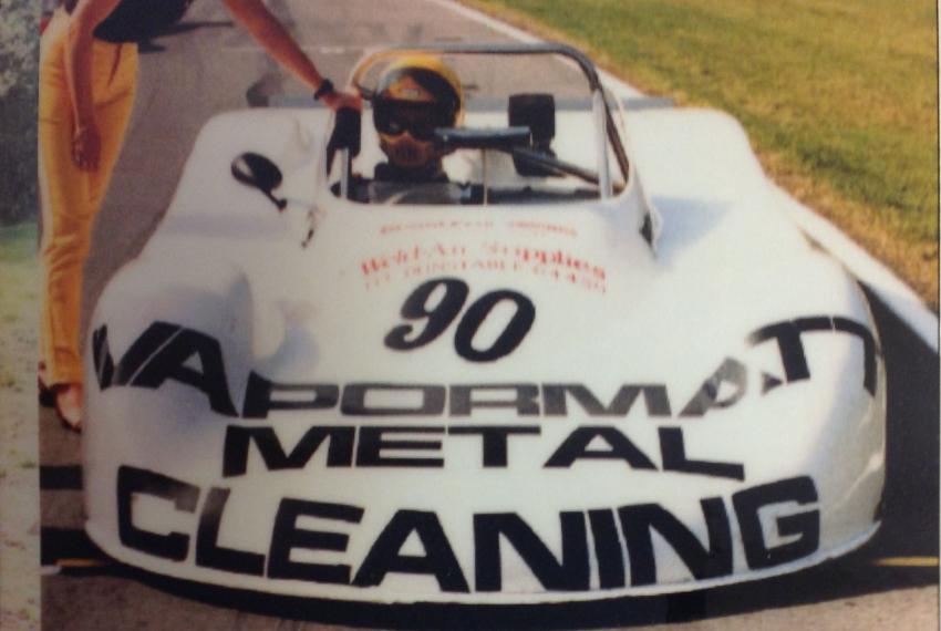 The Vapormatt sponsored hill climb car