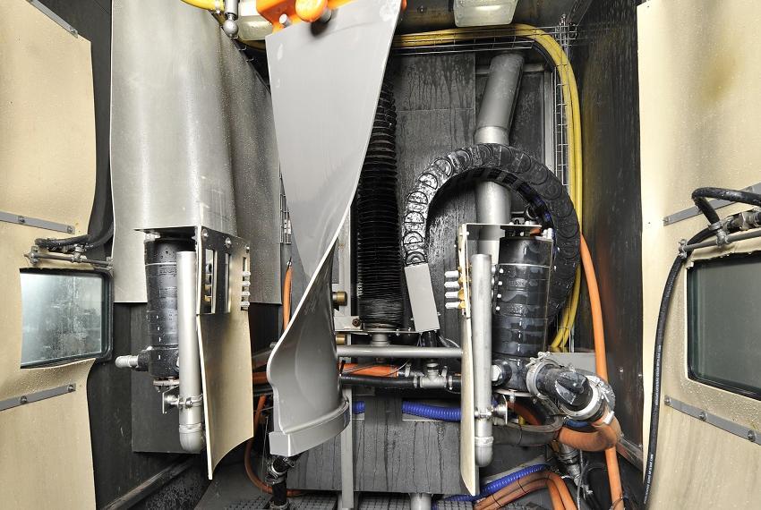 Inside of a Leopard Vertical machine