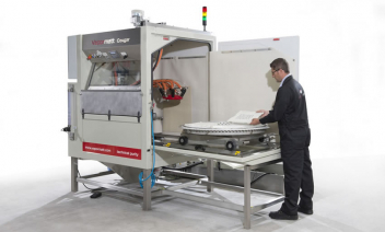 Vapormatt Cougar Radial, Mould cleaning machine, Rubber mould cleaning, Wet blasting, Vapour blasting